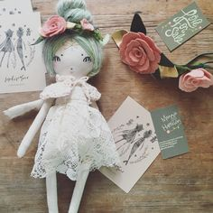 "She sold for $200 Mint green pixie doll & ""Love for Sale"" flower crown"