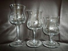 "PRINCESS HOUSE - ""Heritage"" pattern, Crystal Votive Candle Holders -set of 3. Have them."