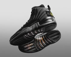 new concept 8784f 65b9a The Stone Island Air Jordan 12 OVO for Drake is another Air Jordan 12 that  was designed by The Shoe Surgeon dressed in a all Black color scheme.