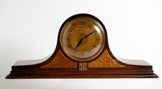Antique Telechrom Two-tone Wood Inlay Electric Mantel Clock Made In USA Mod 4F01