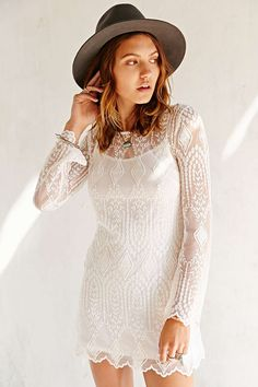 Ecote Embellished Mesh Dress