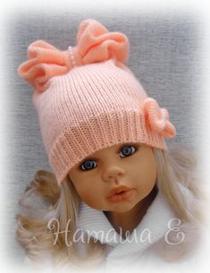 Simple Beanie Making For Youngsters With Suittie - Diy Crafts - Marecipe Baby Hat Knitting Pattern, Crochet Baby Beanie, Baby Hats Knitting, Crochet Hats, Knitted Hats Kids, Knitted Dolls, Kids Hats, Diy Crafts Crochet, Lalaloopsy
