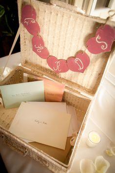 Wedding Card Box Trunk Shabby Chic Rustic Decor (item P10325). $65.99, via Etsy.