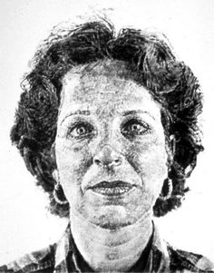 Chuck Close Leslie - fingerprints