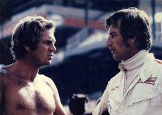 """Steve McQueen and Siegfried Rauch /  Kultfilm """"Le Mans"""": """"Lass die anderen quasseln"""" - SPIEGEL ONLINE…"""