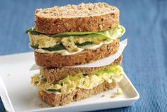 Devilled Egg Salad Sandwiches - Packing all of that zesty flavour between two slices of bread is sure to bring new life to the ordinary egg salad sandwich. Recipe tip: Blot the cucumber with paper towels to absorb moisture.