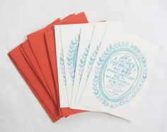 Perfect handmade baby shower invites