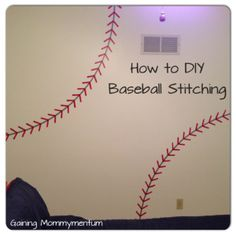 DIY Painted Baseball Stitching