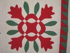 Antique Oak Leaf Applique Quilt Pennsylvania 1850'S | eBay