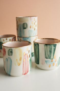 Elegant porcelain espresso cups with a joyful pastel design and pink shade inside of the cup. Made from porcelain, glazed with special crackle glaze inside of the cups, colored and painted with gold luster brushstrokes to make them extra unique. Christmas Gifts For Her, Birthday Gifts For Her, Pastel Designs, Mother In Law Gifts, Maid Of Honour Gifts, Espresso Cups, Ceramic Cups, Porcelain Ceramics, Decoration