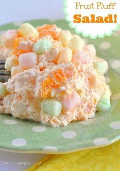18 Festive Easter Desserts: Fruit Fluff Salad food Some Festive Easter Dessert Ideas Perfect for an After Dinner Treat Fluff Desserts, Köstliche Desserts, Dessert Recipes, Recipes Dinner, Passover Desserts, Pudding Desserts, Health Desserts, Jello Recipes, Easter Recipes