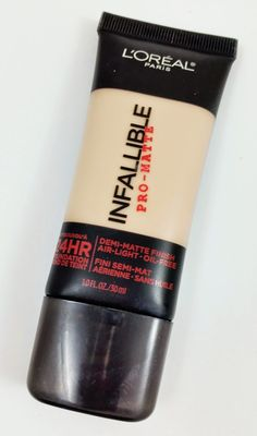 L'oreal Infallible Pro-Matte Foundation stays on for a long time with awesome coverage. A must try drug store product!!