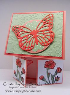 Stamping to Share Shoebox Swap Cards, Mary Smallidge, Double Dutch Doors fold, Butterfly Basics Bundle, 2015 Occasions Catalog, Stampin' Up!