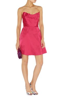 Karen Millen cocktail dress pink satin