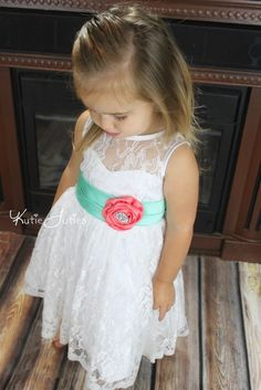 Kutie Tuties - Coral and Aqua Lace Sweetheart Dress, $109.95 (http://www.kutietuties.com/coral-and-aqua-lace-sweetheart-dress/)