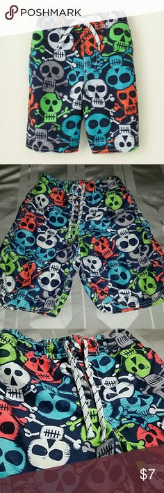 Cute swimwear with skulls. OFFERS ARE WELCOME ;) In great condition the children's place Swim One Piece