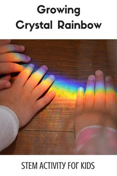 Crystal Rainbow Ornaments | Craft & Science Experiment