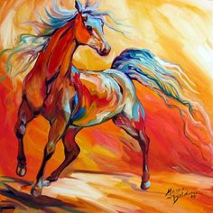 POWER of RED EQUINE ABSTRACT  By Marcia Baldwin