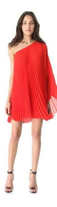 Milly Nicola Pleated One Shoulder Dress | BuyerSelect.com