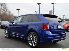 ford edge sport | ... Impact Blue Metallic 2013 Ford Edge Sport Exterior Photo #76791224