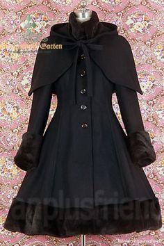 dracula Clothing | zdjęcie Płaszcz zimowy gothic Dracula Clothing czarny w pełnej ...