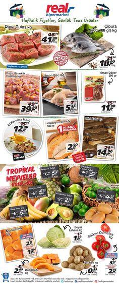 Real market mağazalarında kampanyalar sürüyor. Real'de bu hafta 2-8 Aralık 2016 tarihleri arasında geçerli olacak indirimleri aşağıdaki kampanya kataloğunda inceleyebilirsiniz. Real dana gulaştan bal kabağına kadar gıda ürünlerinde uygun fiyatlar sunuyor.