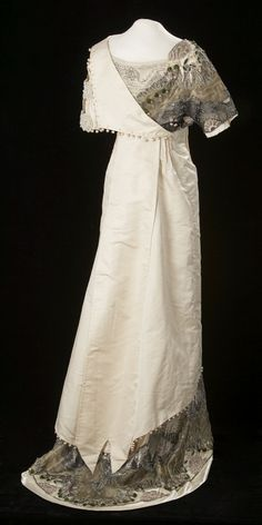 Fripperies and Fobs - Evening Dress 1914 from the Glenbow Museum