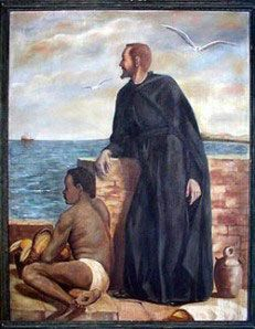 A Saint a day: September 9 St. Peter Claver Patron Saint of Negro Missions 1580 - 1654 St. Peter Claver was born at Verdu, Catalonia, Spain, in of impoverished parents descended from ancient and. Catholic Online, Catholic Art, Catholic Saints, Patron Saints, Roman Catholic, Catholic Prayers, Catholic Feast Days, Today In Black History, Happy Birthday In Heaven