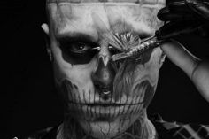 "Rick Genest aka Rico the Zombie // Believes the world could use a lot more freaks. ""The tattoos reveal how I feel on the inside. My tattoos symbolize life through death, or death through life."" http://rickgenest.com/"