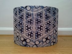 Deep Blue Chevron Handmade African Wax Print Lampshade by AnkaraLampshades Fab Fathers Day Gift