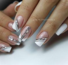 20 latest and hottest french nail art designs ideas 2019 14 - 20 latest and hottest french nail art designs ideas 2019 14 - New Nail Art Design, Creative Nail Designs, Beautiful Nail Designs, Nail Art Designs, French Nails, French Acrylic Nails, Elegant Nails, Stylish Nails, White Nail Art