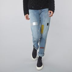 Aries Norm Jeans Taped - Blue/Multi