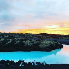 The midnight experience at Blue Lagoon offers something else #BlueLagoon #Iceland - Photo by @wucy