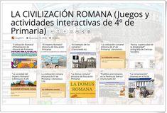 10 juegos y actividades interactivas para el estudio de LA CIVILIZACIÓN ROMANA en 4º de Primaria