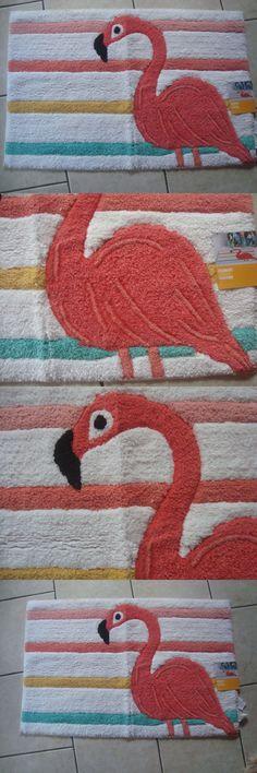 Door Mats and Floor Mats 20573: New Pink Flamingo Bath Mat Kitchen Hall Rug Beach Nautical Decor Cotton 20X30 -> BUY IT NOW ONLY: $34.99 on eBay!