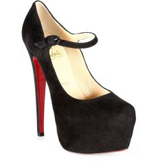 Christian Louboutin Lady Daf Suede Mary Jane Platform Pumps ($1,075) ❤ liked on Polyvore featuring shoes, pumps, heels, sapatos, christian louboutin, high heel platform pumps, mary jane platform shoes, christian louboutin shoes, suede pumps and high heel mary janes
