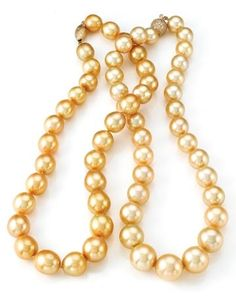 Golden South Sea Pearl Necklace.  MSRP $ 6,000.00