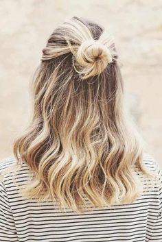 38 Ideas hair styles easy quick buns for 2019 #hair
