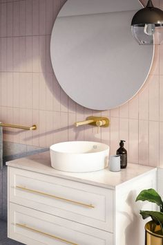 [New] The 10 Best Home Decor (with Pictures) - A quality showpiece the new array of colour in tapware accessories and showers makes personalising the bathroom so much easier. We love the brushed gold finish of Mizu Drift - the jewellery of the bathroom Bathroom Tapware, Gold Bathroom, 3d Bathroom Design, Bathroom Interior, Reece Bathroom, Wall Hung Vanity, Drawer Design, Vanity Units, Bathroom Inspiration