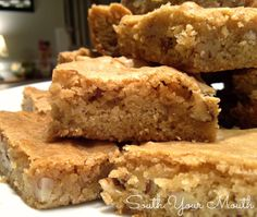 South Your Mouth: Pecan Chewies, but I would likely try these with walnuts since I don't love pecans.