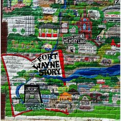 The Story of Fort Wayne - mural, on the side of Hyde Bros Books