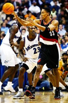 An easily forgotten picture of Jordan and Pippen.   Trying to find the source... Anyone know?