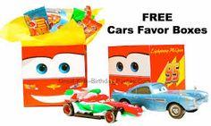 Disney Cars Favor Boxes
