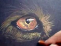 drawing on black paper with soft pastel pencils