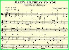 Piosenka urodzinowa-HAPPY BIRITHDAY TO YOU Piano Music, Sheet Music, Ukulele, Musicals, Musical Instruments, Happy, Music Education, Guitar