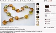 Bakelite Spotted Disc Necklace £400.00