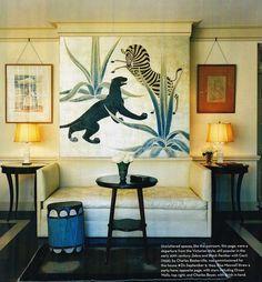 gorgeous animal mural…