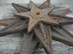 Antique Cast Iron Architectural Stars  Set Of 3