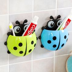 $1.7 - Family Toothbrush Holder Lovely Strong Sucker Vacuum Suction Cup Ladybug #ebay #Home & Garden