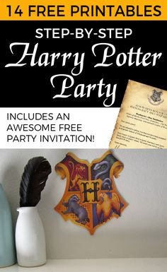 Harry Potter Party free printables - includes invitation